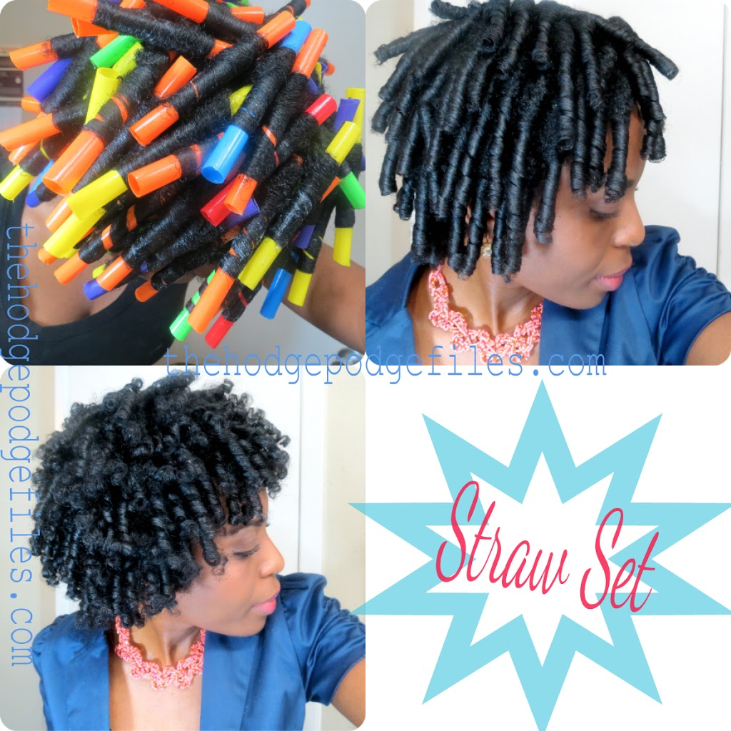 Straw Set On Natural Hair Veepeejay