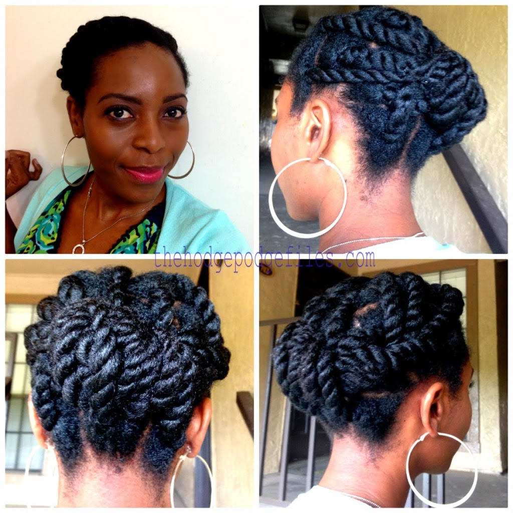 Chunky Twists Updo with Beija Flor Naturals - VeePeeJay