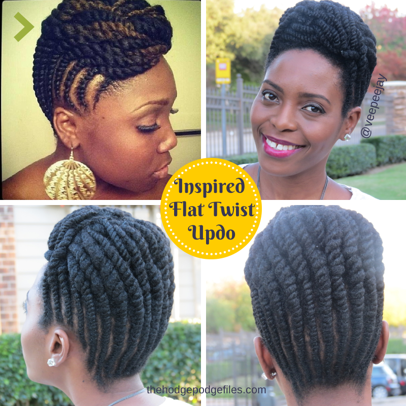 Natural Hair | Inspired Flat Twists Updo - VeePeeJay