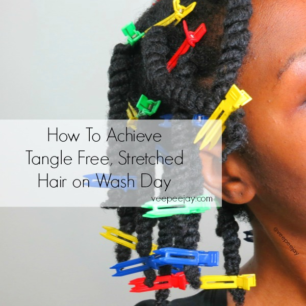 veepeejay stretched hair with clips
