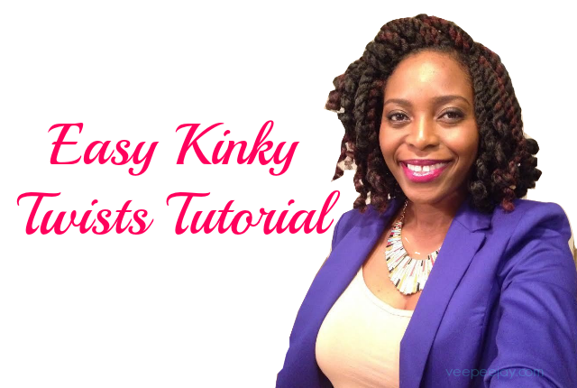 Easy Kinky Twists Tutorial Using Crochet Braids Veepeejay