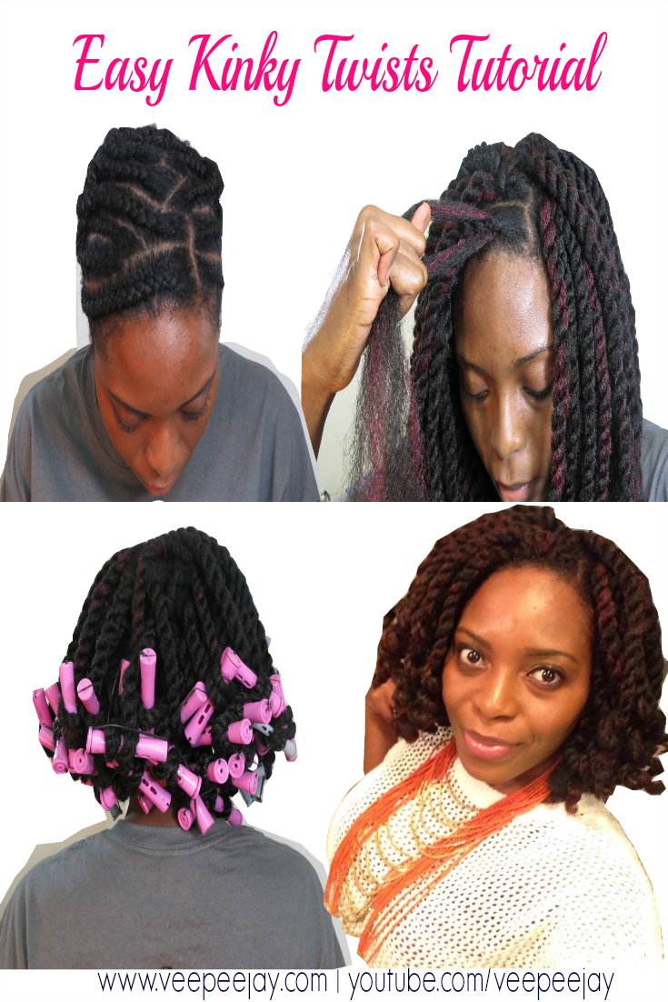 Easy Kinky Twists Tutorial using Crochet Braids - VeePeeJay
