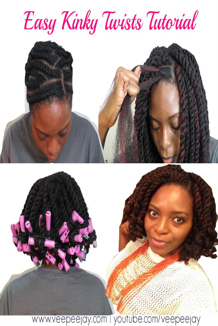 Easy Kinky Twists Tutorial Using Crochet Braids Veepeejay
