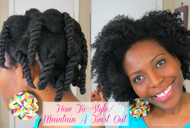 How To Maintain A Twist Out At Night - VeePeeJay