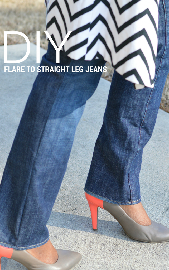 DIY-flare-to-straight-leg