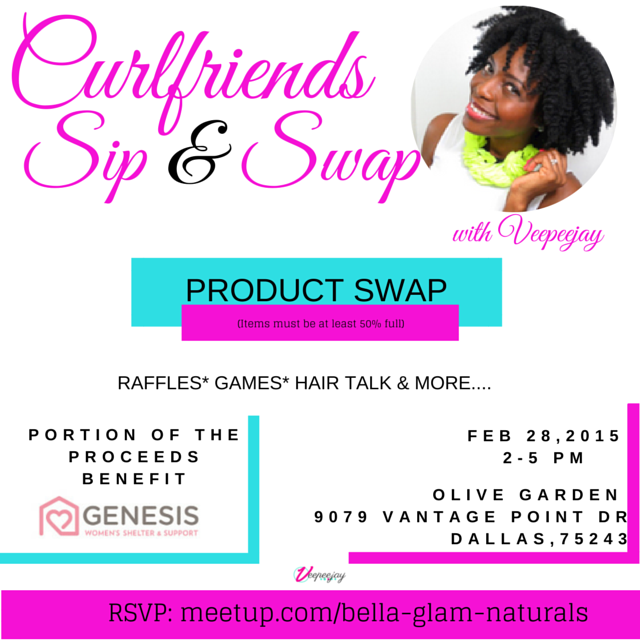Dallas Events | Curlfriends Sip & Swap