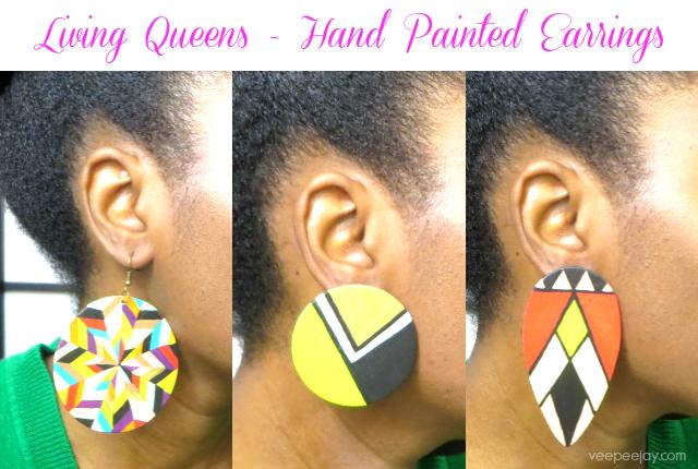 Handpainted Living Queens Earrings