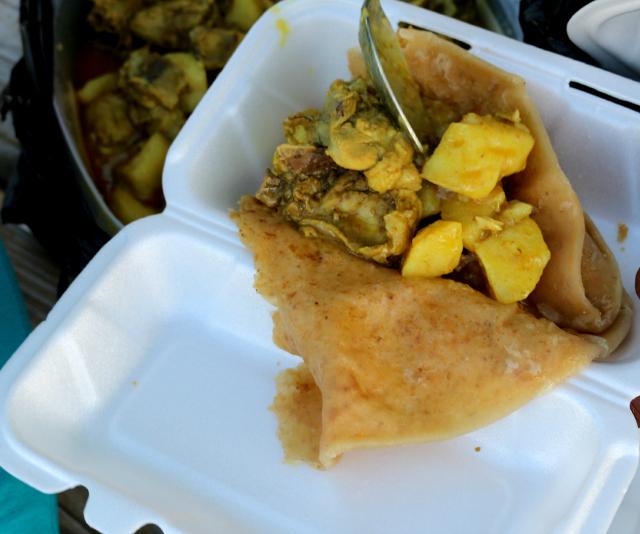 Roti in Grenada