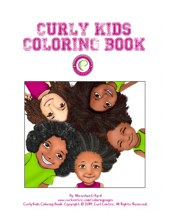 Curl Centric Curly Kids Coloring Book #BeCurlCentric