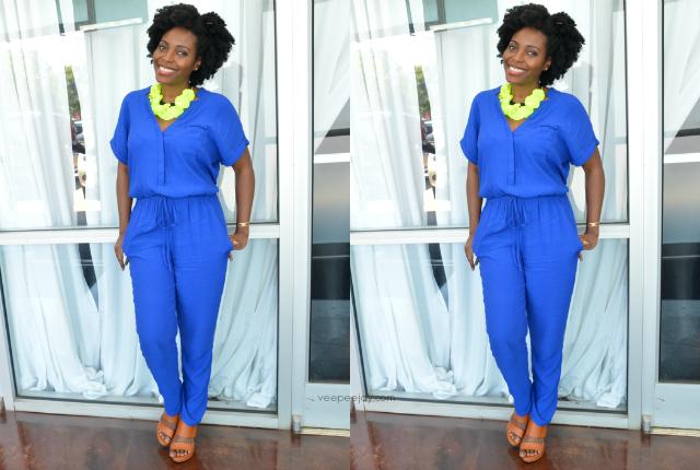 VeePeeJay Cobalt Blue Jumpsuit