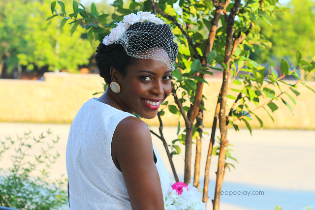 Natural Hair Bride - Style with Fascinator