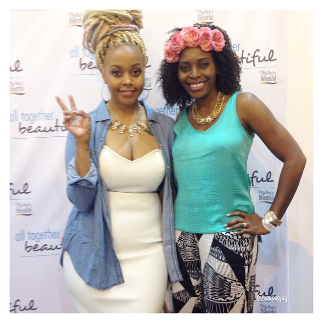 VeePeeJay with Chrisette Michelle at Essence Fest 2015