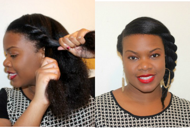 Goddess Twist on Natural Hair