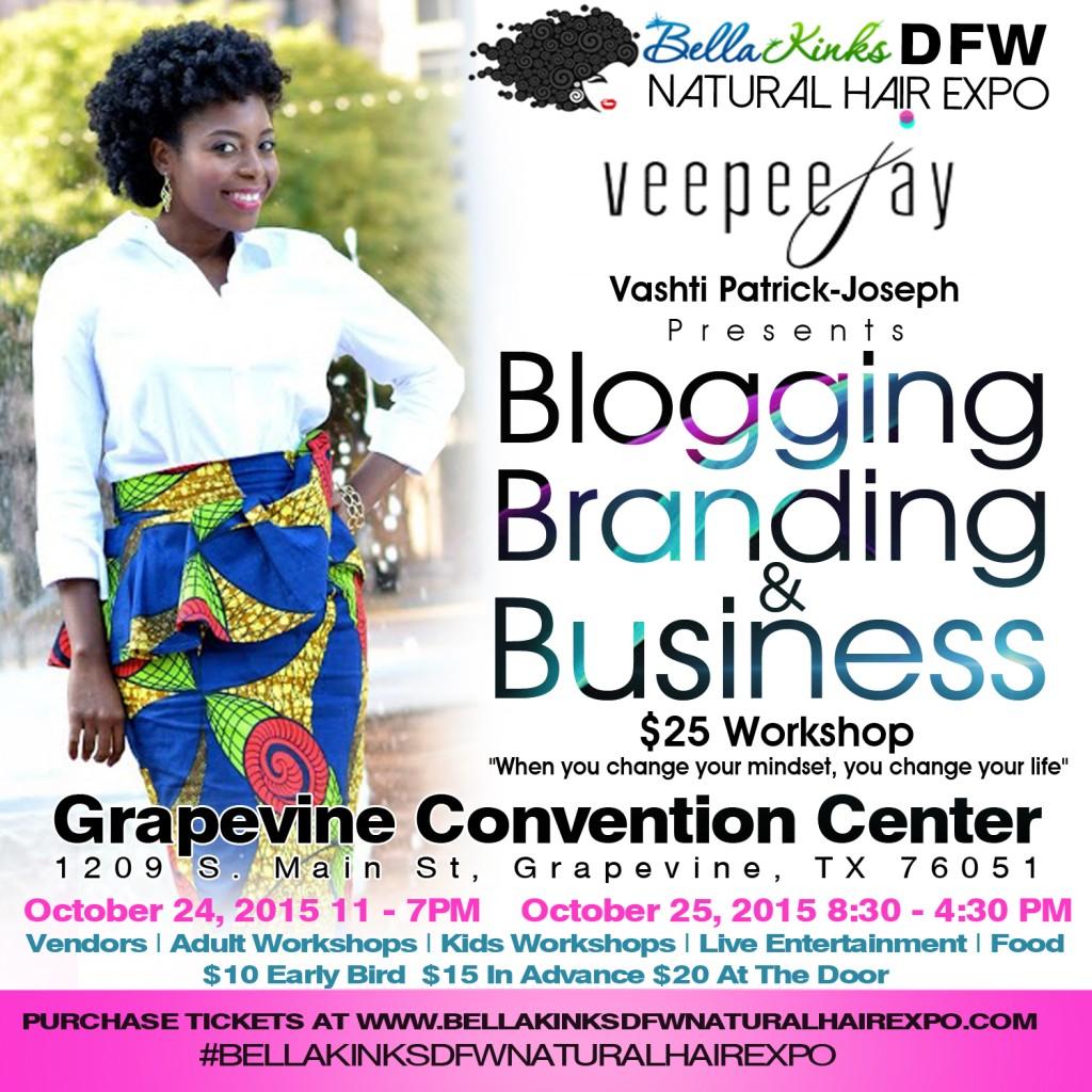 Blogging Branding Business Workshop - VeePeeJay